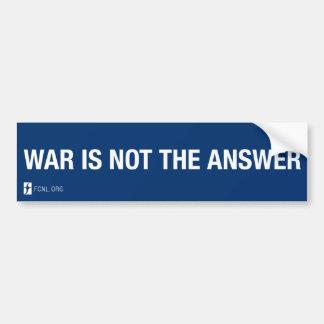 Autocollant De Voiture La guerre n'est pas l'adhésif pour pare-chocs de