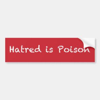 Autocollant De Voiture La haine est bumpersticker de craie-style de