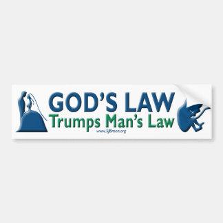 Autocollant De Voiture La loi de Dieu Trumps la loi de l'homme