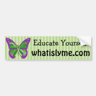 Autocollant De Voiture La maladie de Lyme de papillon de pourpre et de