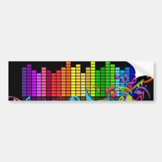 Autocollant De Voiture la musique colorée note l'égaliseur