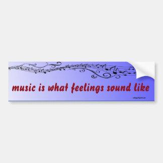 Autocollant De Voiture la musique est…