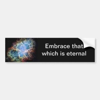 Autocollant De Voiture La NASA de supernova de nébuleuse de crabe
