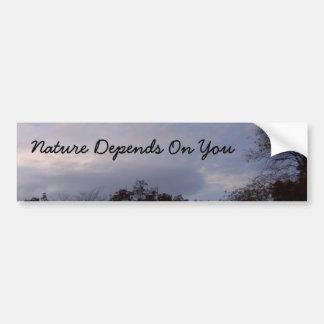 Autocollant De Voiture La nature dépend de vous