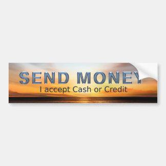 Autocollant De Voiture La PIÈCE EN T envoient l'argent