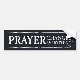 Autocollant De Voiture La prière change tout adhésif pour pare-chocs noir