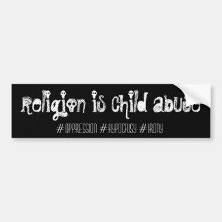 Autocollant De Voiture la religion est mauvais traitement à enfant,