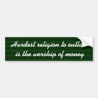 Autocollant De Voiture La religion la plus dure à proscrire est le culte