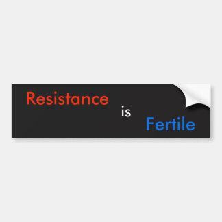 Autocollant De Voiture La résistance est fertile