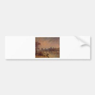 Autocollant De Voiture La Seine et le Louvre, Paris Camille Pissarro