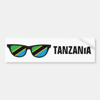 Autocollant De Voiture La Tanzanie ombrage le bumpersticker fait sur