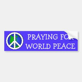 Autocollant De Voiture La terre de paix du monde et ADHÉSIF POUR