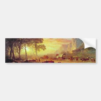 Autocollant De Voiture La traînée de l'Orégon - Albert Bierstadt