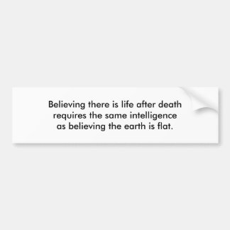 Autocollant De Voiture La vie après la mort