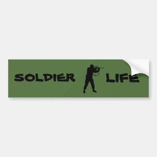 Autocollant De Voiture La vie de soldat