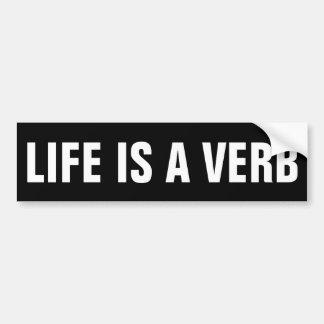 Autocollant De Voiture La vie est un verbe
