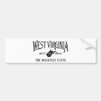 Autocollant De Voiture La Virginie Occidentale