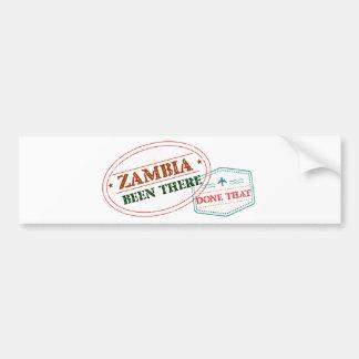 Autocollant De Voiture La Zambie là fait cela