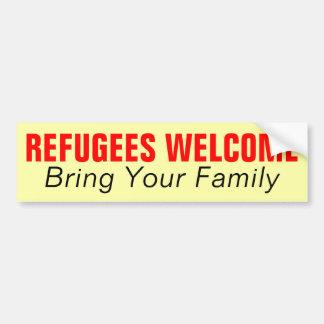 Autocollant De Voiture L'accueil de réfugiés amènent votre famille