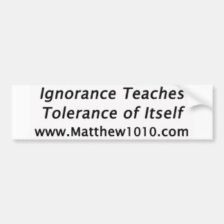 Autocollant De Voiture L'adhésif pour pare-chocs de tolérance