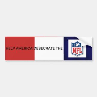 Autocollant De Voiture L'aide Amérique profanent le NFL