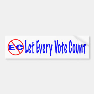 Autocollant De Voiture Laissez chaque compte de vote