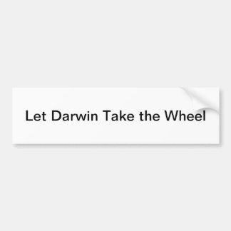 Autocollant De Voiture Laissez Darwin prendre la roue Bumpersticker