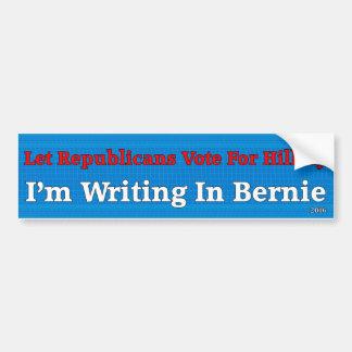 Autocollant De Voiture Laissez le vote de républicains pour Hillary -