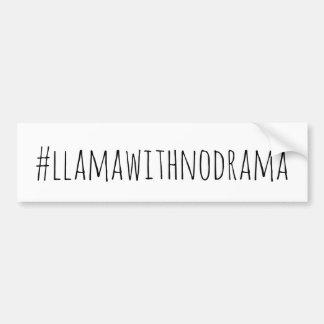 Autocollant De Voiture Lama sans l'adhésif pour pare-chocs de drame