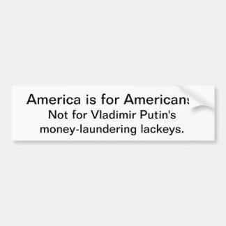 Autocollant De Voiture L'Amérique n'est pas pour le président de la