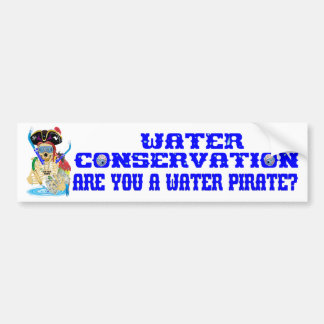 Autocollant De Voiture L'anglais de pirate de l'eau de conservation