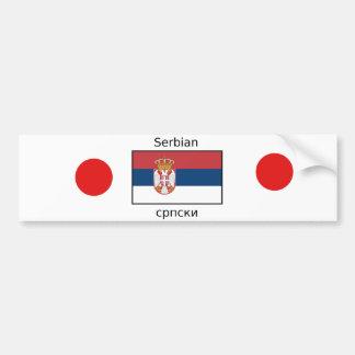 Autocollant De Voiture Langue serbe et conception de drapeau de la Serbie