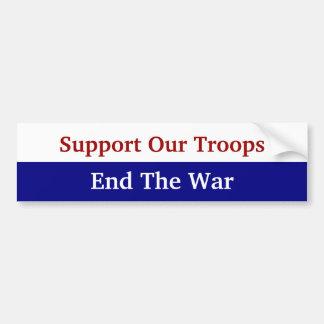 Autocollant De Voiture L'appui de KRW nos troupes finissent la guerre