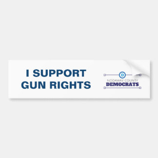 Autocollant De Voiture L'arme à feu de soutien de Démocrate redresse
