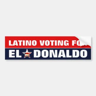 Autocollant De Voiture Latino votant pour Donald Trump
