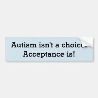 Autocollant De Voiture L'autisme n'est pas un choix