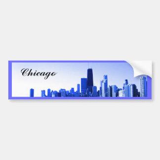 Autocollant De Voiture Le bleu royal a accentué l'horizon de Chicago
