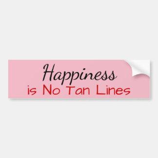 Autocollant De Voiture Le bonheur n'est aucune ligne de Tan