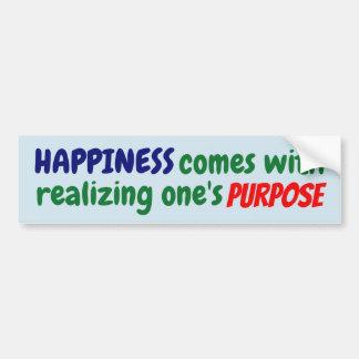 Autocollant De Voiture Le bonheur vient avec réaliser son but !