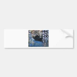 Autocollant De Voiture Le canal grand de Venise (Venise bleue) par