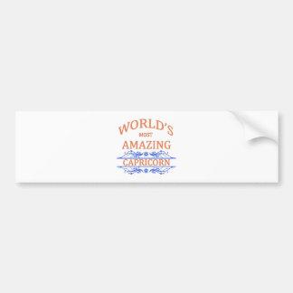 Autocollant De Voiture Le Capricorne le plus extraordinaire du monde