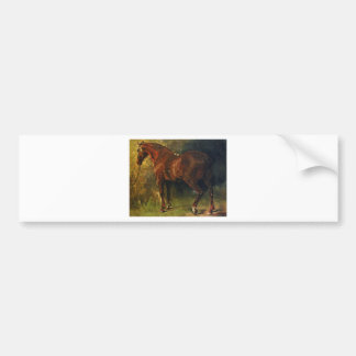 Autocollant De Voiture Le cheval anglais de M. Duval par Gustave Courbet