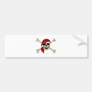 Autocollant De Voiture Le crâne de pirate de jolly roger désosse la