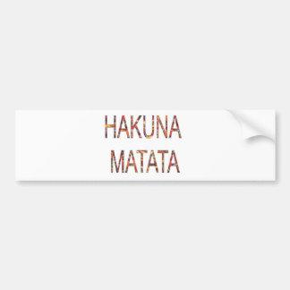 Autocollant De Voiture Le cru africain colore Hakuna Matata.