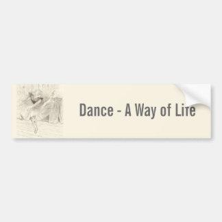 Autocollant De Voiture Le danseur classique, Toulouse-Lautrec