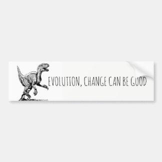 Autocollant De Voiture Le dinosaure d'évolution, changement peut être bon