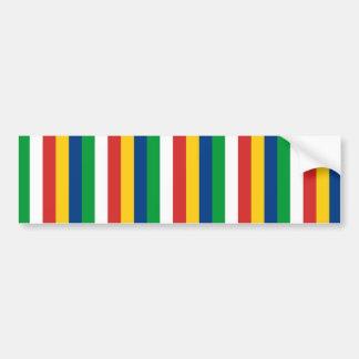 Autocollant De Voiture Le drapeau des Seychelles barre des lignes motif