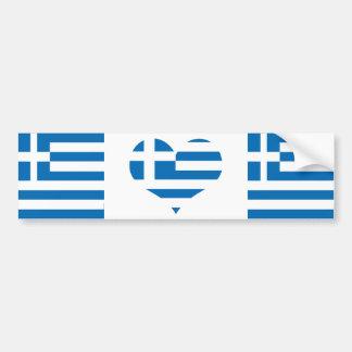 Autocollant De Voiture Le drapeau national de la Grèce