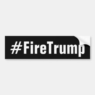 Autocollant De Voiture Le feu Donald Trump de FireTrump