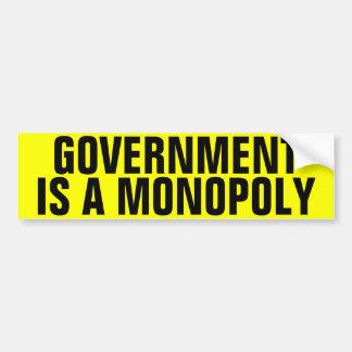 Autocollant De Voiture Le gouvernement est un monopole